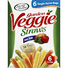 Sensible Portions Garden Veggie Straws, Sea Salt - 6 pack, 1 oz bags