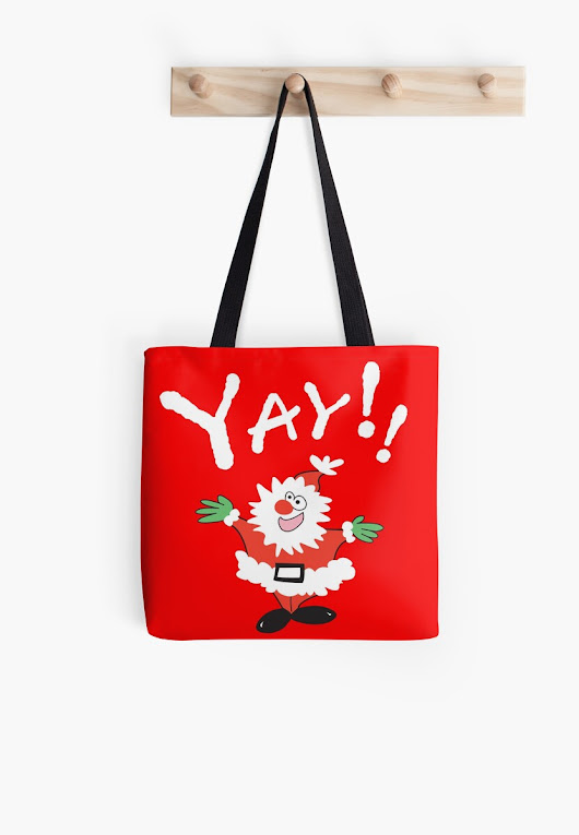 'Yay!! It's Christmas ' Tote Bag by Karen Sagovac