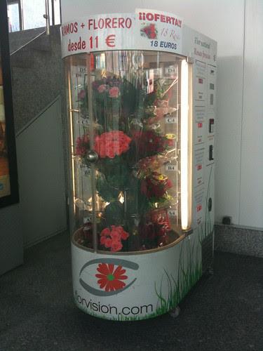Dispensador de ramos de flores