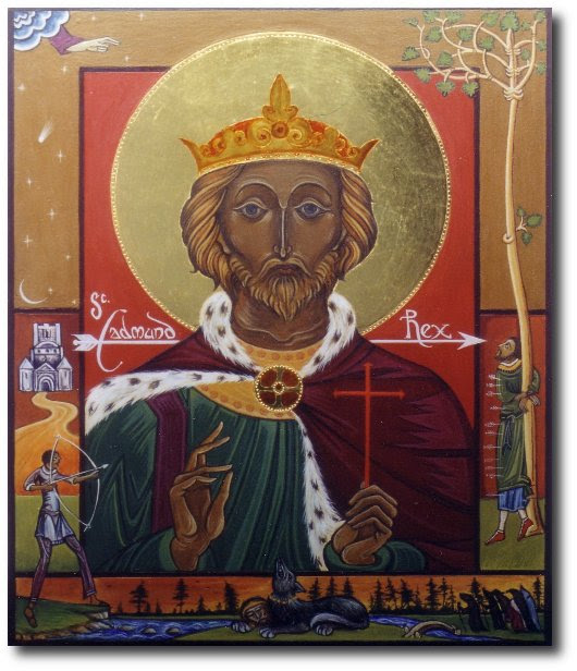 icon St Edmund king and martyr