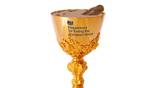 New Brexit Secretary inaugurated with traditional goblet of bubbling turds