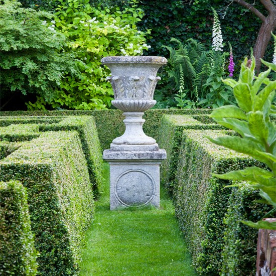 A hedge is a simple form of topiary used to create boundaries, walls or screens.