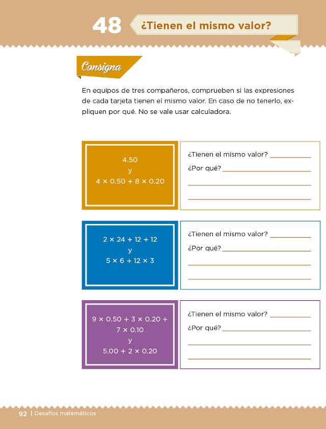 Paginas 59 60 61 Desafios Matematicos Cuarto Grado / Desafíos Matemáticos Libro para el alumno Cuarto grado ...