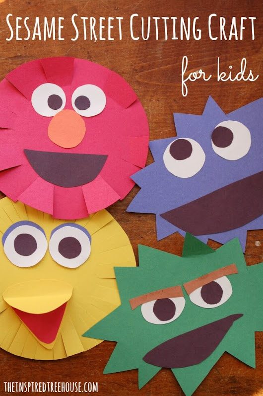 SIMPLE SESAME STREET CRAFT FOR KIDS - The Inspired Treehouse