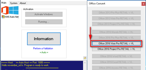 Convert Individual Office 2016 Retail App to VL & Activate ...