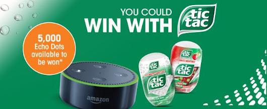 Win with Tic Tac Contest: Win 1 of 5,000 Amazon Echo Dots at
