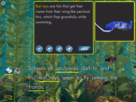 Ocean Forests- A TOP PICK non-fiction eBook for iPad -  App Review - Fun Educational Apps for Kids