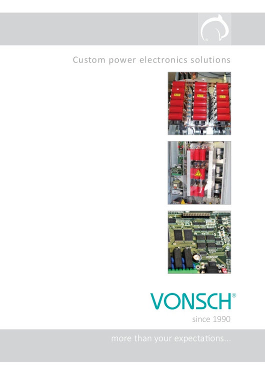 VONSCH power electronics solutions 2017