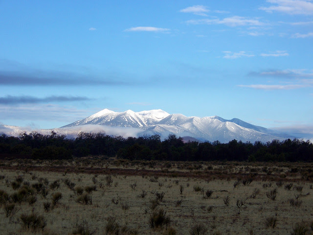 San Francisco Peaks with snow