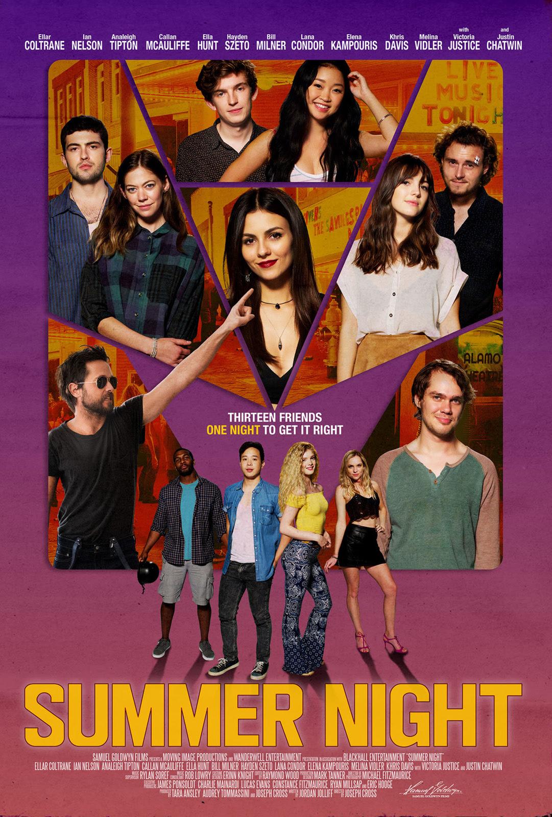 Resultado de imagem para summer night filme cartaz 2019