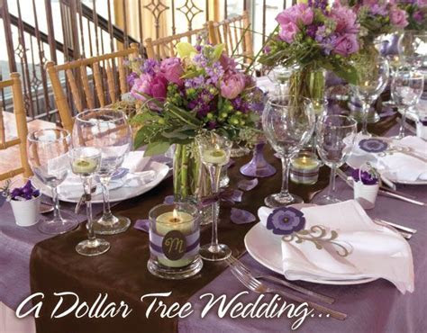A beautiful Dollar Tree Wedding. These ideas are great