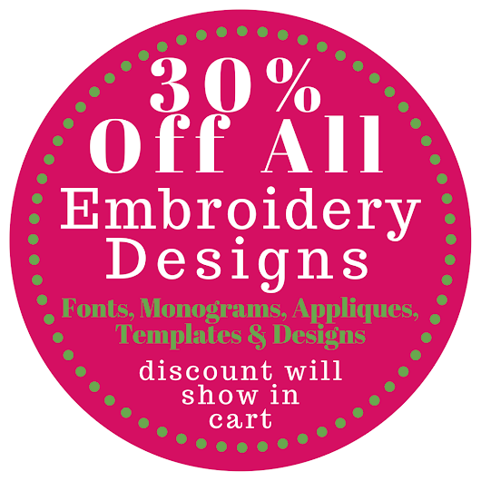30% Off ALL Embroidery Design Sets