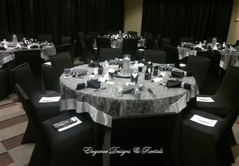 Silver and Black wedding reception at Sheraton Huntsville