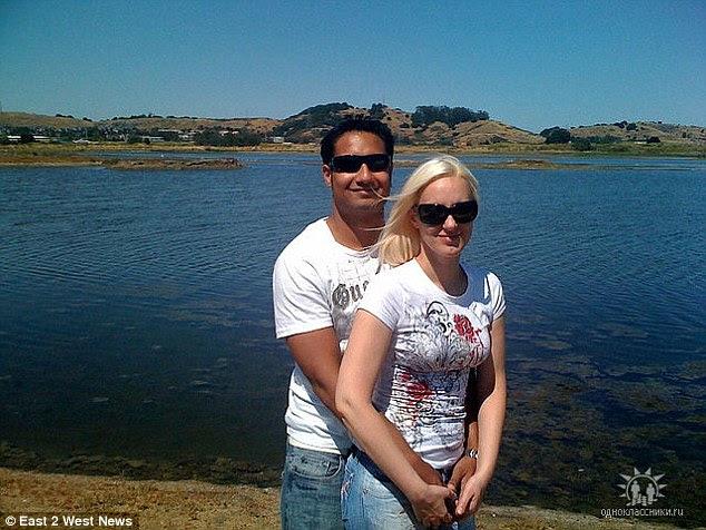Otra hermana: Tatiana Chernykh con su marido Syed Raheel Farook. Su hermano y hermana-en-ley llevaron a cabo la masacre de San Bernardino