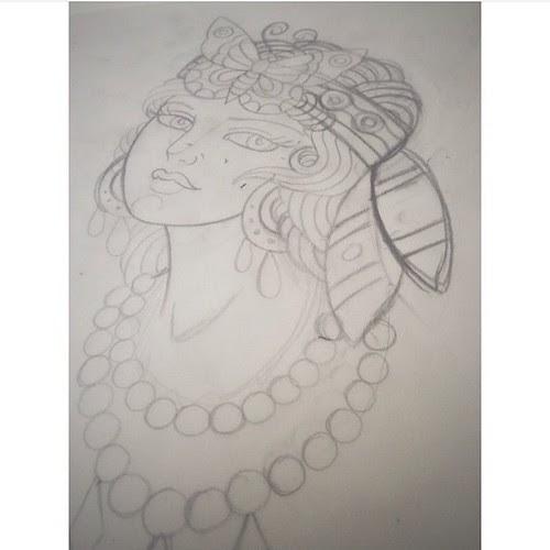 Butterfly Gypsy Sketch Sketch Draw Gypsy Butterfly Art Tattoo