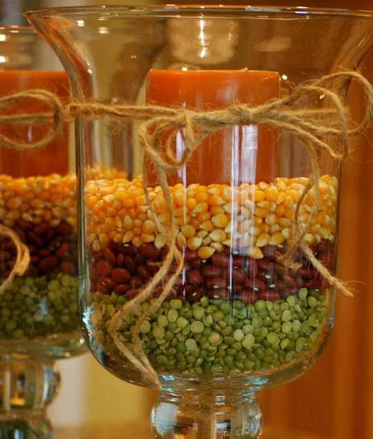DIY:: Fall Decorating with Hurricane Vases