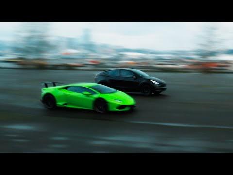 Tesla Model Y VS Lamborghini Huracan