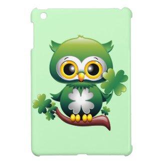 Baby Owl St Patrick Cartoon iPad Mini Case