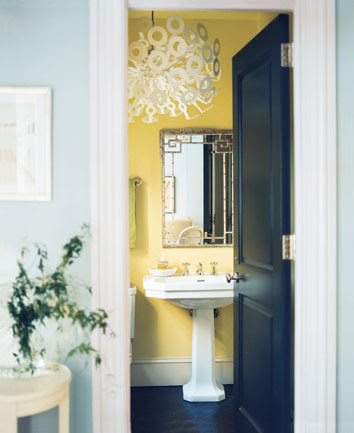 Dreamy Little Bathrooms, Part 2: Chandeliers, Sconces and Pendants