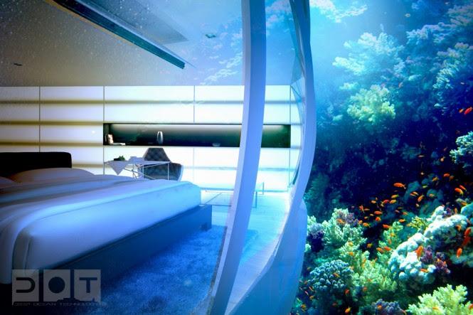 Underwater bedroom