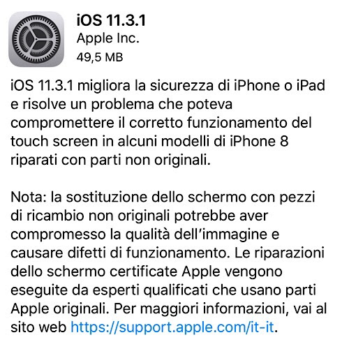 Apple rilascia iOS 11.3.1 | Orebla.it