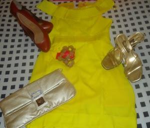 Virada do ano: o amarelo representa dinheiro  (Foto: Viviane Gonçalves / G1)