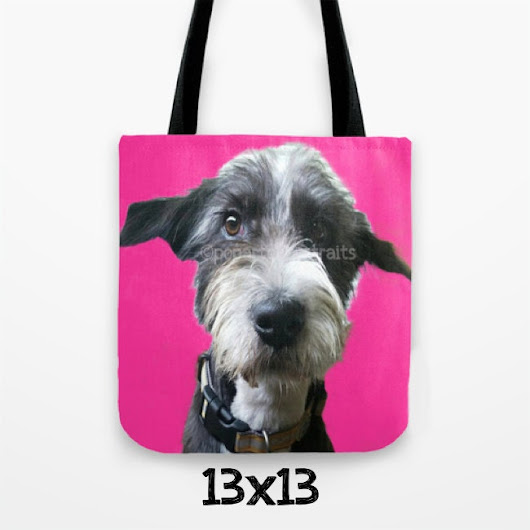 Personalized pet tote Custom pet tote Novelty pet bag customized dog Tote Bag Custom pop art pet tote from your photo Pop art Pet Portraits
