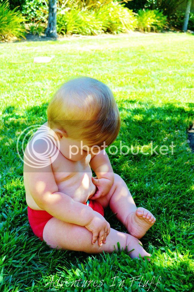 Bummis Tots Bots Stretch Bamboozle - on my baby