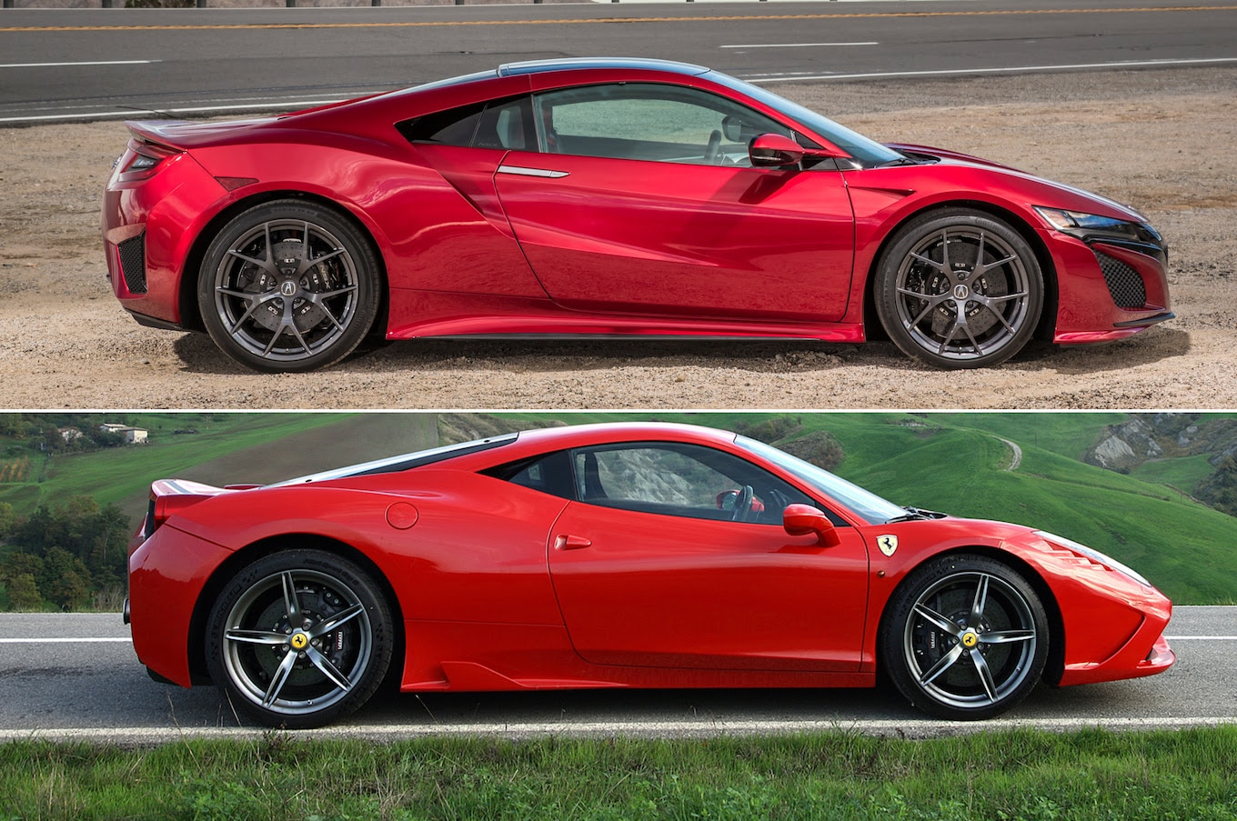 New Acura NSX or Used Ferrari 458?  Motor Trend