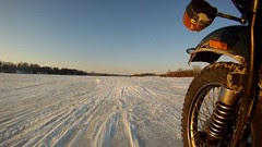 Riding on a Frozen Lake