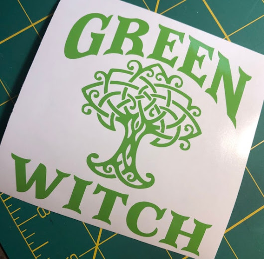 GREEN WITCH Celtic Tree Vinyl Decal Pagan Symbols Car Window | Etsy