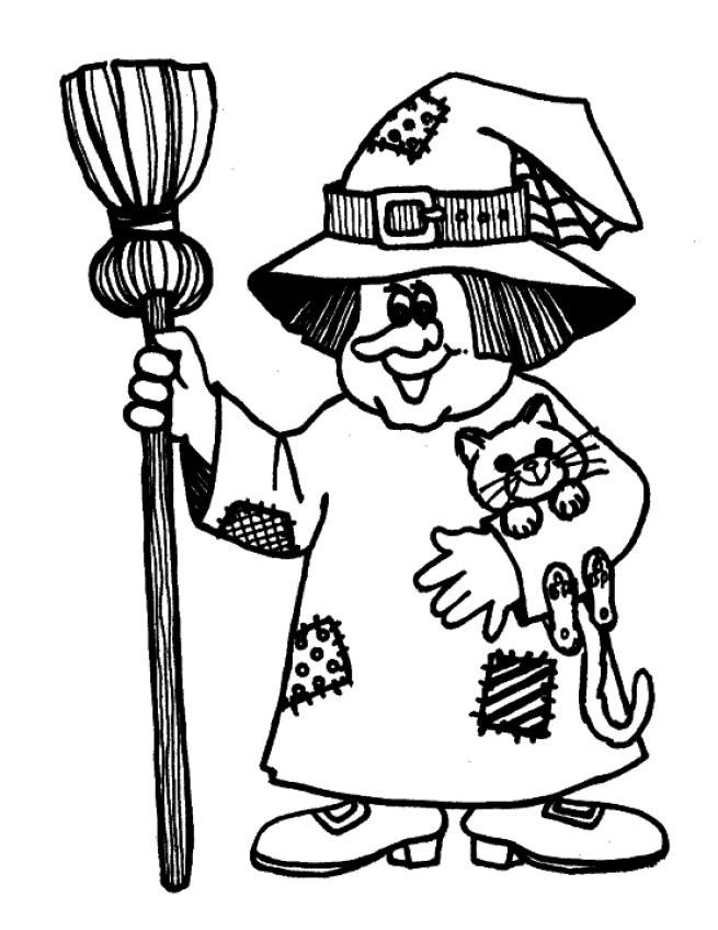 Dibujos De Brujas Infantiles Para Colorear Imagesacolorierwebsite