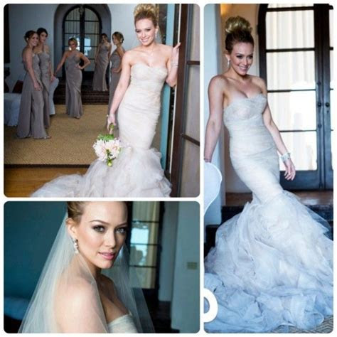 Hilary Duff Wedding Dress   The 2 Gorgeous Styles You