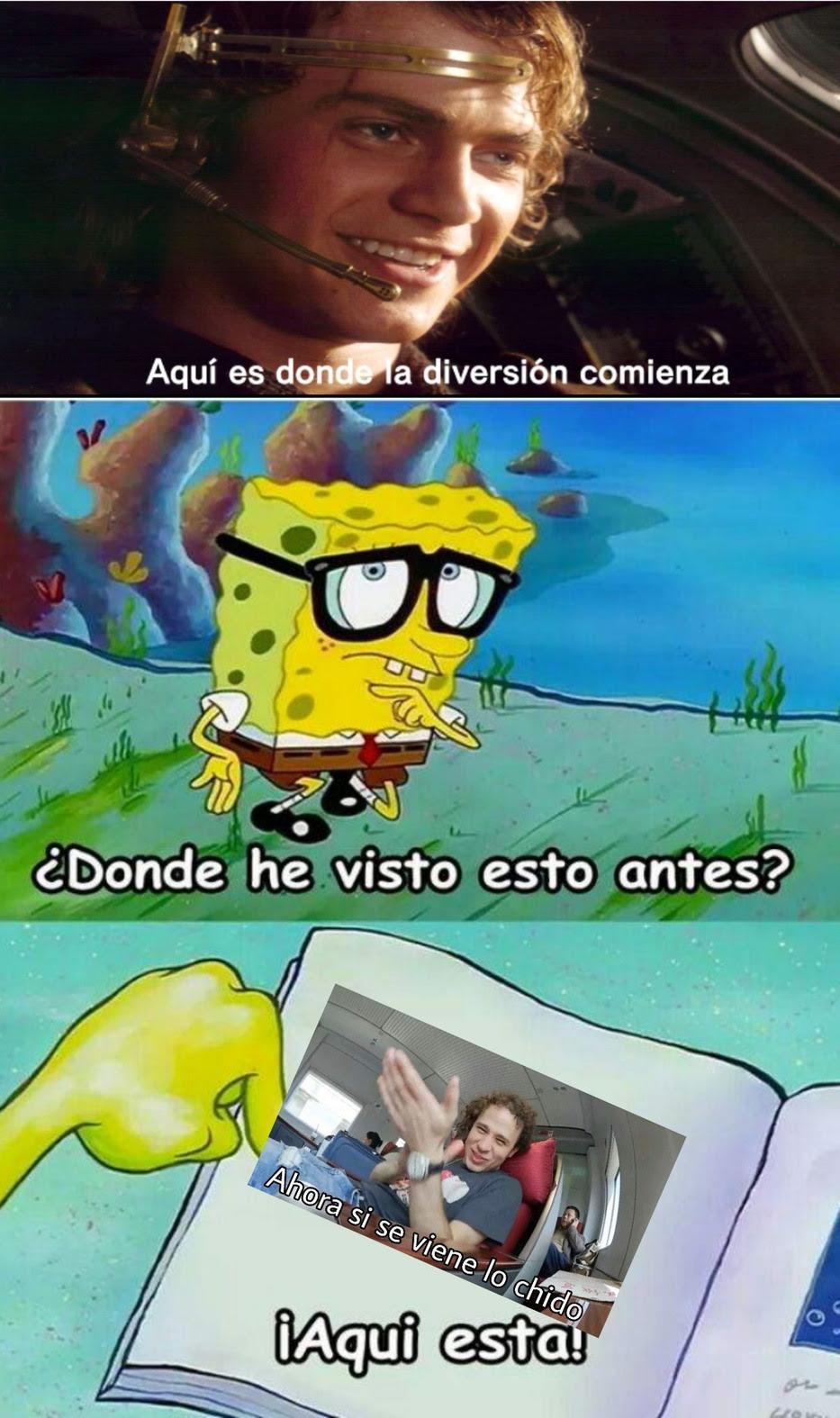 Plantilla De Bob Esponja Con Cara De Plantillas Para Memes