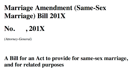 On making a submission to the Senate Select Committee on the Exposure Draft of the Marriage Amendment (Same-Sex Marriage) Bill