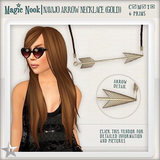 [MAGIC NOOK] Navajo Arrow Necklace (Gold)