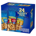 Planters, Cashew & Peanut, Variety Pack, 24-count