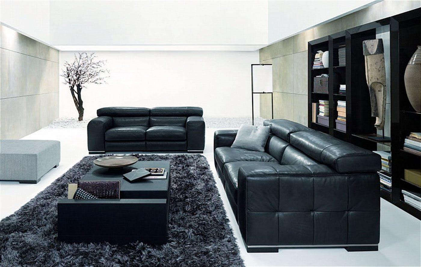 Living Room Designs Black Sofa Hawk Haven