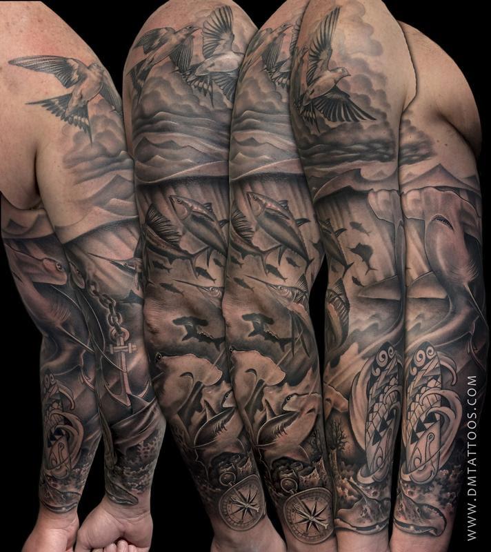 Rebel Muse Tattoo Tattoos Custom Underwater Sleeve Tattoo