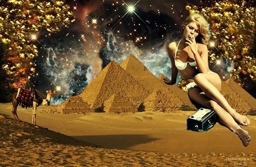 Art: Mirage - Miragem. Concluída dia 03/07/2.018.  #desert #digital #digitalart #fiction #futuristic...