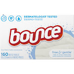 Bounce Free & Gentle Dryer Sheets - 160 count