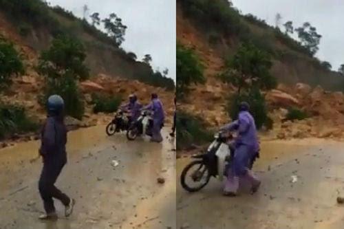 Hình ảnh Video: Kinh hoàng cảnh tượng sạt lở tại Cẩm Phả số 1