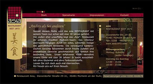 Webupdate von www.asia1973.de durch Webdesign-Agentur designbetrieb aus Essen