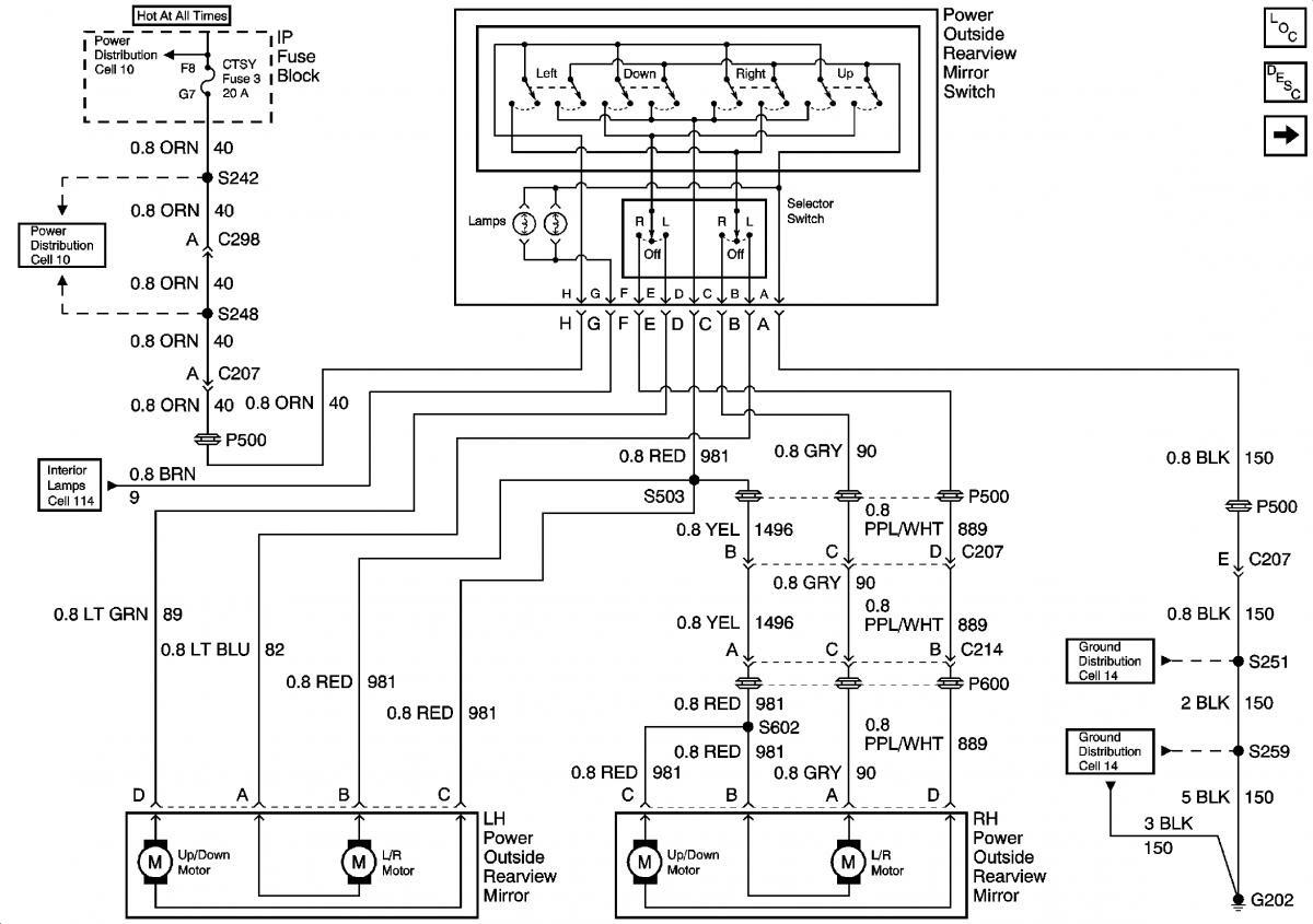 94 F150 Power Mirror Wiring Diagram