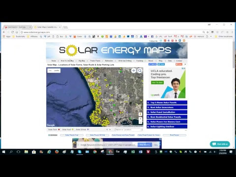 How to Search Map for Solar Installations