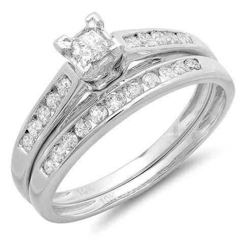 Perfect Cheap Diamond Bridal Ring Set 1 Carat Diamond on