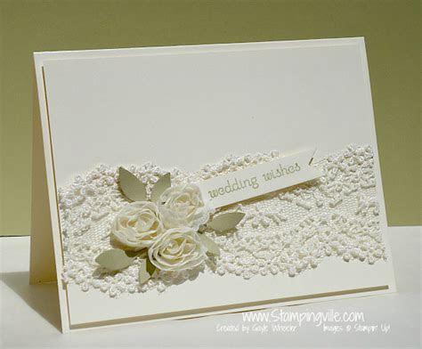 Stampingville: Elegant Floral   Lace Wedding Card