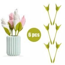 6 PCS / set Napkin Holder Dining Decoration Diy Plastic Flower