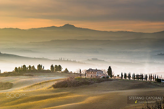 Misty morning in Tuscany