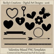 Valentine Mixed Element Templates-FS-CU-PNG-Beckys Creations